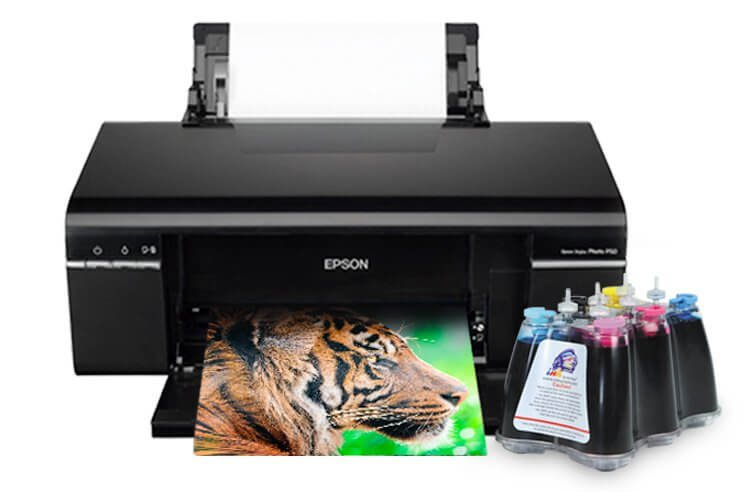 Принтер Epson Stylus Photo P50 с СНПЧ и светостойкими чернилами INKSYSTEM