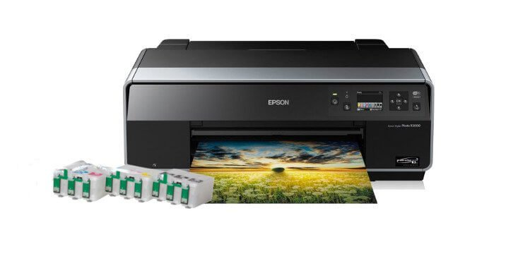 Цветной принтер Epson Stylus Photo R3000 с ПЗК (США)